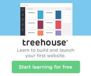 Learn to build and launch your first website with Treehouse.